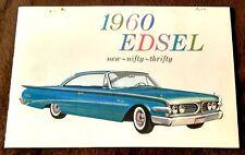 Beautiful Vintage 1960 Ford Edsel Sales Brochure - Near Mint