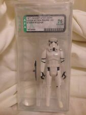 Vintage Star Wars Stormtrooper Loose Action Figure Original 12 Back AFA 75 #1