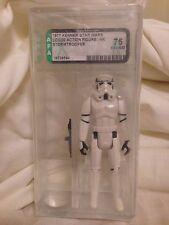 Vintage Star Wars Stormtrooper Loose Action Figure Original 12 Back AFA 75 #1