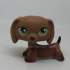 LPS Littlest Pet Shop #139 Brown Dachshund Dog with Green Eyes LPS