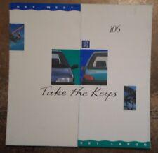 PEUGEOT 106 KEY WEST & KEY LARGO Special Edition orig 1993 UK Mkt Sales Brochure