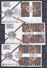 UNO Genf 1994 FDCs mit 16 Zusammendrucke von MiNr. 250-253