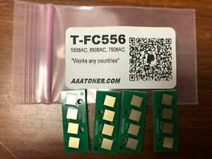 4 Toner Chip T-FC556 TFC556 for Toshiba 5506AC, 6506AC, 7506AC (T-FC556) Refill