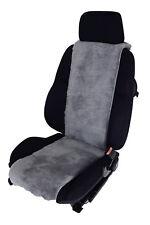 Autositz-Auflage Sitzbezug aus echtem Lammfell Silber / Grau Breite 30 cm