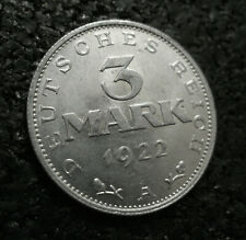 3 Mark Weimarer Republik 1922 - A E - Umschrift - bitte wählen - (t22n795)