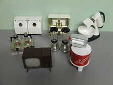 Vintage Household Items/Appliances Plastic Salt & Pepper Shakers (Lot of 7 Sets)