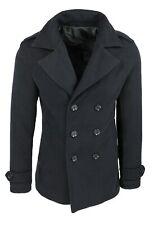 Cappotto uomo Diamond invernale nero slim fit soprabito giacca 100% made Italy