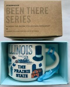 Starbucks 2oz NOT 14 OZ ILLINOIS Been THERE mug Ornament Espresso Cup Mini Mug