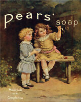 Pears Soap Girls Bubbles - VINTAGE ADVERTISING ENAMEL METAL TIN SIGN WALL PLAQUE