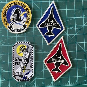 57th FIS Kefalvik F-4 1970' and 1980' USAF Patches