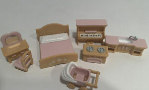 Calico Critters Sylvanian Families Furniture Lot Primrose Baby Windmill House