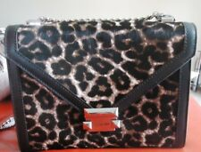 MICHAEL KORS WHITNEY LARGE LEOPARD CALF HAIR AND LEATHER CONVERTIBLE BAG - BNWT