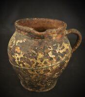 Antique Muséum terre cuite cruche Moyenâgeuse - Consolidée au XXEME - RARISSIME