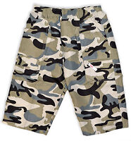Boys Army Cargo Shorts Kids Camouflage Combat Print Bermuda New Age 3 - 12 Years