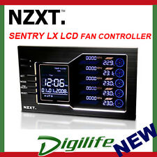 NZXT Sentry LX Fan Controller LCD Screen Monitor Speed Temp Dual 5.25""