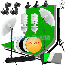 Photography Photo Studio Continuous Lighting Kit 4 Backdrop Background Stand Set