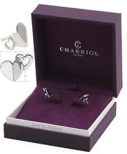 $145 CHARRIOL Sterling Silver Mouni Double Heart Stud Earring Women Gift Box NEW