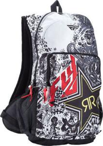 Fly Rockstar Démarrage Pack Sac à Dos / Noir/Jaune Motocross MX Enduro Sac