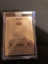 2015 Flawless Joe Montana autograph patch /10 auto