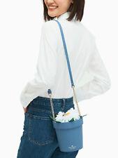NWT Kate Spade Down the Rabbit Hole Daisy Blue Flower Pot Crossbody Bag Purse