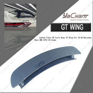 Full Carbon Fiber Rear GT Wing For 2019-2020 Mercedes Benz AMG GT63 4D Coupe