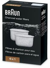 Water Filter Charcoal Replacement For Braun BrewSense Coffee Makers 6-Packets