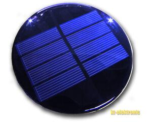 2V 300mA 0.6W 98mm runde Solarzelle z.B. für Solarleuchte mit 1,2V NiMH Akku