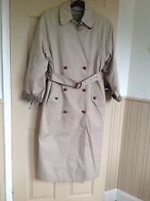 LADIES VINTAGE C&A, TRENCH COAT, WITH DETATCHABLE LINING, SIZE 12