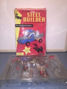 Vintage The Original Steel Builder Metal Construction Set By Schylling With Box