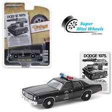 Greenlight 1:64 Vintage Ad Cars -1975 Dodge Coronet State Police (Black) 39050-D