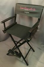 Lancome Paris Makeup Seat Vintage Telescope Bar Counter Height Directors Chair