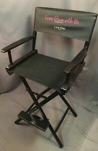 Lancome Paris Makeup Seat Vintage Telescope Bar Counter Height Directors Chair