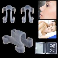 6pcs Sleeping Aid Equipment Anti Snore Nose Clip Stop Snoring Apnea Breathe Aids