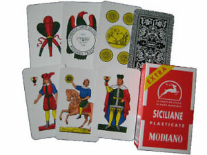 Modiano Extra Siciliane Italian Playing Cards Briscola & scopa ( original )
