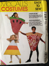 OOP M 7287 cake pizza cheese pie watermelon candy corn costume pattern 7-10