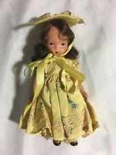 Vintage Story Book Nancy Ann Doll USA ~ Original Outfit & Hat