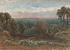 IMPRESSIONIST ENGLISH LANDSCAPE Painting c1895 REVEREND LAURENCE GEORGE BOMFORD