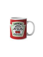 Catch Up With Jesus 11 oz Mug Ceramic Novelty Design Christian Funny Gift