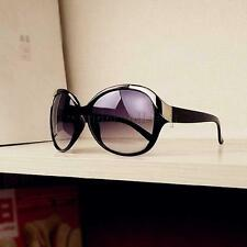 Mode Damen Rund Form Sonnenbrille Sunglasses Brillen Sonnenbrillen Schwarz