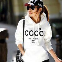 Korean Girl Hoodie COCO Jacket Coat Sweatshirt Outerwear Hooded Tracksuit Top