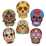 Skull Flower Embroidered Sew Iron On Badge Patches Clothing Fabric Applique DIY