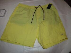 Mens Tommy Hilfiger Board Shorts Swim Trunks Short XL 78B4458 352 Yellow NWT