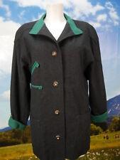 Neuwertig langer Loden Janker von Lodenfrey schwarze Trachtenjacke Jacke Gr.42