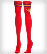 Womens Superman Red Knee High Socks