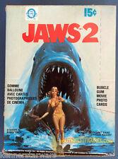 1978 O'Pee Chee Jaws 2 Wax Box Full 36 Factory Sealed Packs Nice Box!