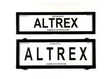 Altrex 6QSNL Number Plate Frame without Lines - Black