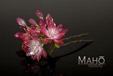 EXQUISITE Handmade JAPANESE KANZASHI hairpin stick COMB Pink Sakura Cherry