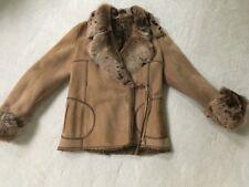 Rizal FUR &  Suede Leather jacket  wrap style SZ 38 FRANCE