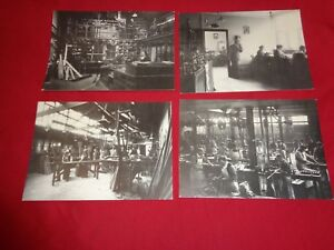 Set of 8 House of Hardy Museum Postcards of Reel Making Etc.