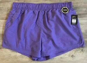 """NWT Athletic Works Women's XXL (20) Running Shorts Purple with Liner 5"""" Inseam"""